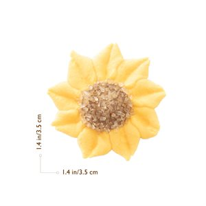 SUNFLOWER, SUGAR, 3.5CM, 100PC