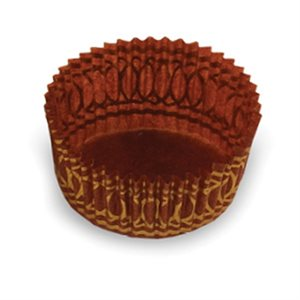 LARGE PASTRY CUP, BROWN / GOLD