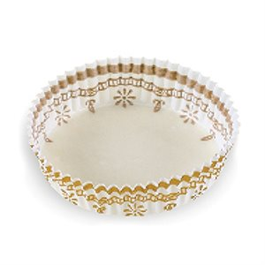 FRUIT TART CUP, WHITE / GOLD