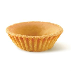 WHITE COATED TARTLET, ROUND (2.5 IN / 6.3 CM)