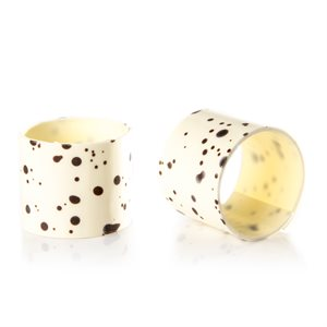 SPECKLED RING, WHITE CHOCOLATE