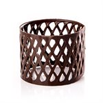 LATTICE RING, DARK CHOCOLATE