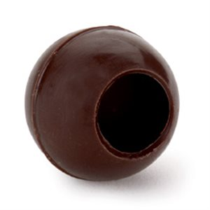 LARGE HOLLOW TRUFFLE SHELL, SEMISWEET CHOCOLATE