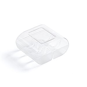 CLEAR 6 CAVITIES MACARON BOX W / LID, 90PC