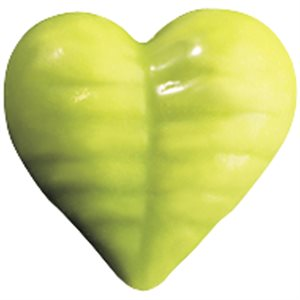 GREEN COLOURED HEARTS 1.4*1.5 CM