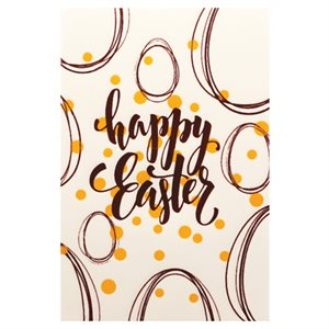 HAPPY EASTER GOLD AND BLACK PLAQUETTE, WHITE CHOCOLATE, 100 PC