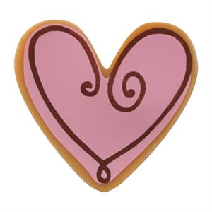 PINK HEART COOKIE, BLONDE CHOCOLATE, 135 PC