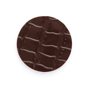 CROCODILE TEXTURE DISK, DARK CHOCOLATE
