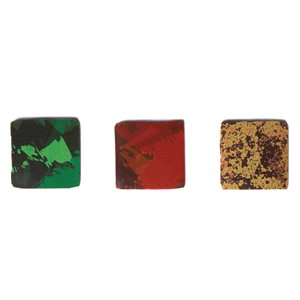 TRI-COLOR PLAQUETTE ASSORTMENT, DARK CHOCOLATE