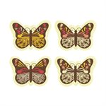 ASSORTMENT OF BUTTERFLIES, WHITE CHOCOLATE