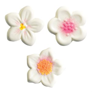 PETITE FLOWERS TRIO, WHITE CHOCOLATE