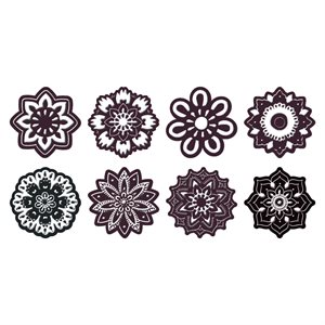 EMBOSSED FLOWER ASSORTMENT, DARK CHOCOLATE