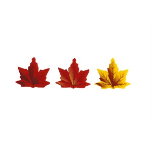 Mini Maple Leaves Assortment, White Chocolate