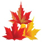 Large Maple Leaves Assortment, White Chocolate