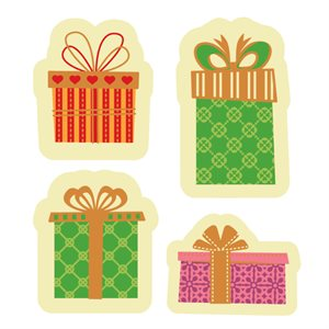 WRAPPED GIFTS ASSORTMENT, WHITE CHOCOLATE