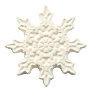 EMBOSSED SNOWFLAKE, BB WHITE CHOCOLATE