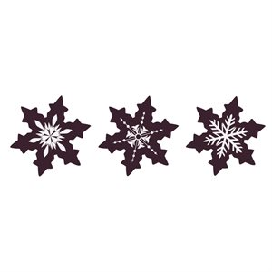 WINTER SNOWFLAKES, DARK CHOCOLATE