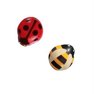 BEE & LADY BUG DUO, WHITE CHOC, 170 PC