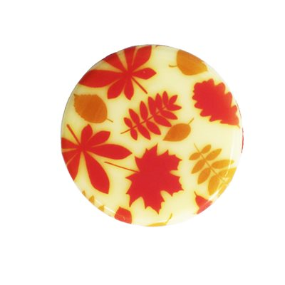FALL LEAVES PLAQUETTE, WH CHOC, 3CM, 440 PC