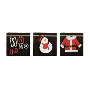 HO HO HO PLAQUETTE ASSORTMENT, DARK CHOCOLATE