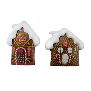 2D GINGERBREAD HOUSE DUO, MILK CHOCOLATE