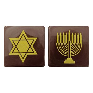 HANUKKAH PLAQUTTE DUO, DARK CHOCOLATE
