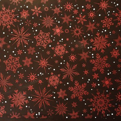 CRYSTAL SNOWFLAKES TRANSFER SHEET, 17PC