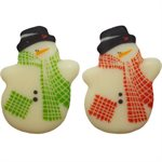 SNOWMEN WITH SCARF N POCKET, WHITE CHOCO 165 PC
