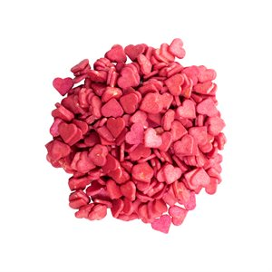 HEART SPRINKLES, RED, WHITE CHOCO, 500 G