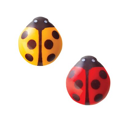 LADY BUGS DUO, WHITE CHOCOLATE, 2.1X1.9CM, 17OPC