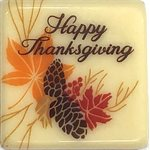 HAPPY THANKSGIVING SQ WHITE COMP, 3cm, 88PC