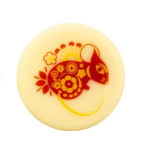 LUNAR YEAR 2020 RAT, WHITE CHOC, 3CM, 176PC
