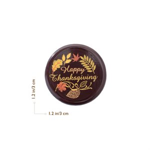 HAPPY THANKSGIVING, DARK CHOC 3CM, 176PC