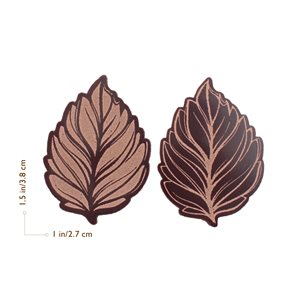 BRONZE LEAVES, DARK CHOC, 3.8X2.7CM, 105PC