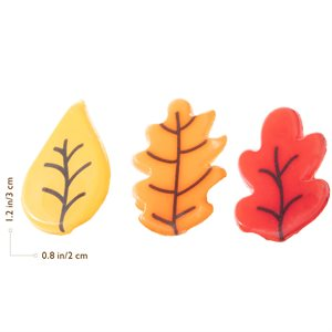 ASSORTMENT OF FALL LEAVES, WHITE COMPOUND, 180PC