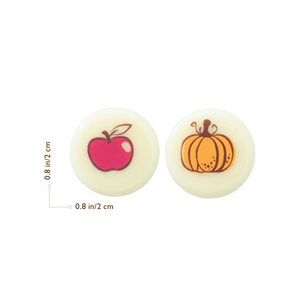 PUMKIN AND APPLE DUO, WHITE CHOC, 2CM, 352PC