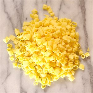 ARTE PIATTO YELLOW CHOCOLATE MINI CURLS, 12LB