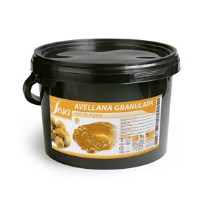 PURE HAZELNUT PASTE WITH PIECES, 5KG