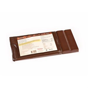 SUPREMO 62% DARK COUVERTURE BAR, SUGAR-FREE, 500g / 1.1lbs