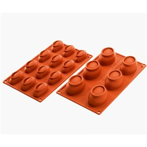 "SILICONE MOULD FOR 12 SMALL ""STONES"""