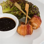 APP SCALLOP IN BACON ON PADDLE SKEWER, 200 PCS