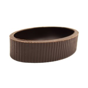 CHOC CUP PETIT FOUR OVAL DARK, 5.5x.1.4cm, 224PCS