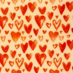 WATERMARK RED HEARTS, TRF SHT, 40X25CM, 17SH